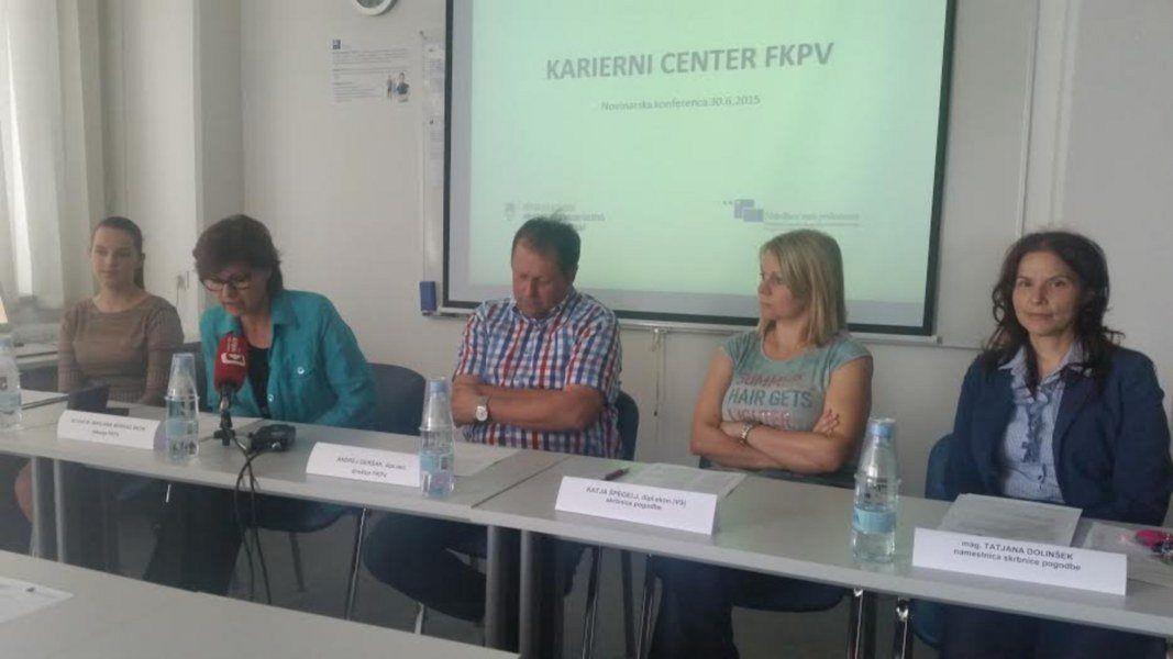 Zaključek projekta Karierni center FKPV, novinarska konferenca 30. 6. 2015