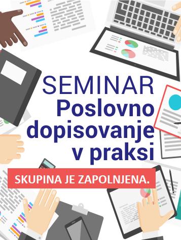 Seminar kot del obvezne prakse > Poslovno dopisovanje v praksi