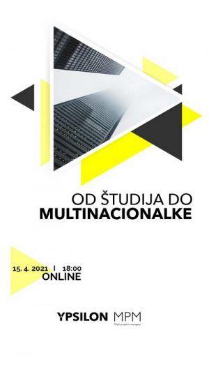 Online dogodek Od študija do multinacionalke – 15. 4. 2021