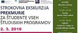 Strokovna ekskurzija v Prekmurje za študente vseh programov v okviru projekta Nadgradnja KC FKPV