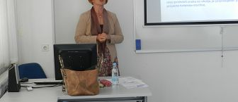 Utrinki z javne predstavitve dispozicije doktorske disertacije študentke mag. Vekoslave Gojčič