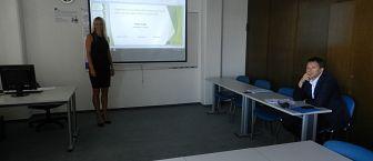 Utrinki z javne predstavitve dispozicije doktorske disertacije študentke Nataše Keuc, mag.