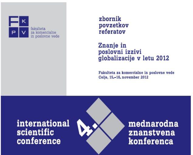 Zbornik povzetkov referatov 2012