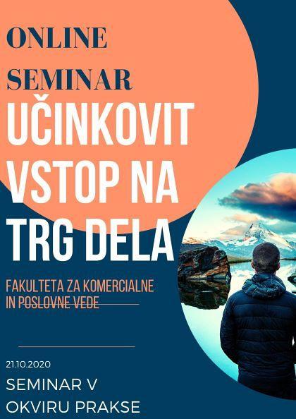Seminar kot del obvezne prakse > Učinkovit vstop na trg dela