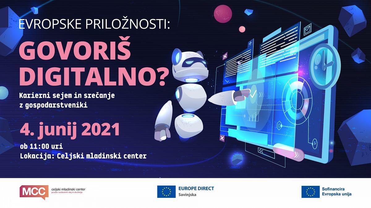 """MCC vabi na dogodek """"Evropske priložnosti: Govoriš digitalno?"""""""