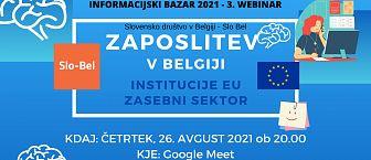 Vabilo na Webinar Zaposlitev v Belgiji