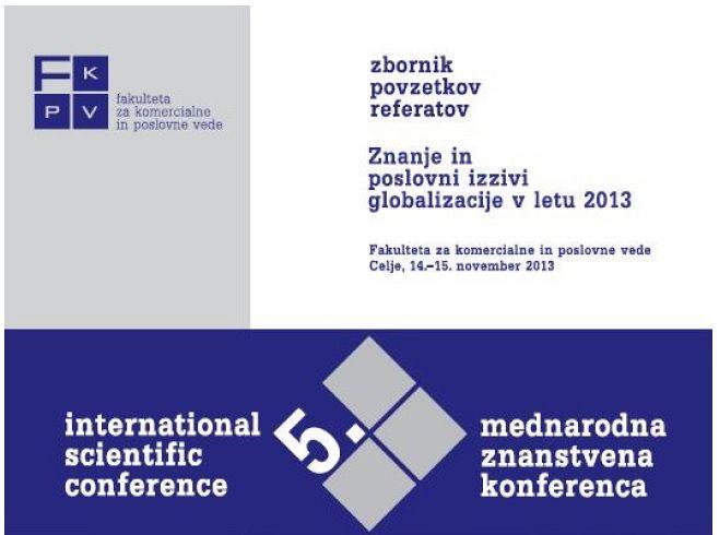 Zbornik povzetkov referatov 2013