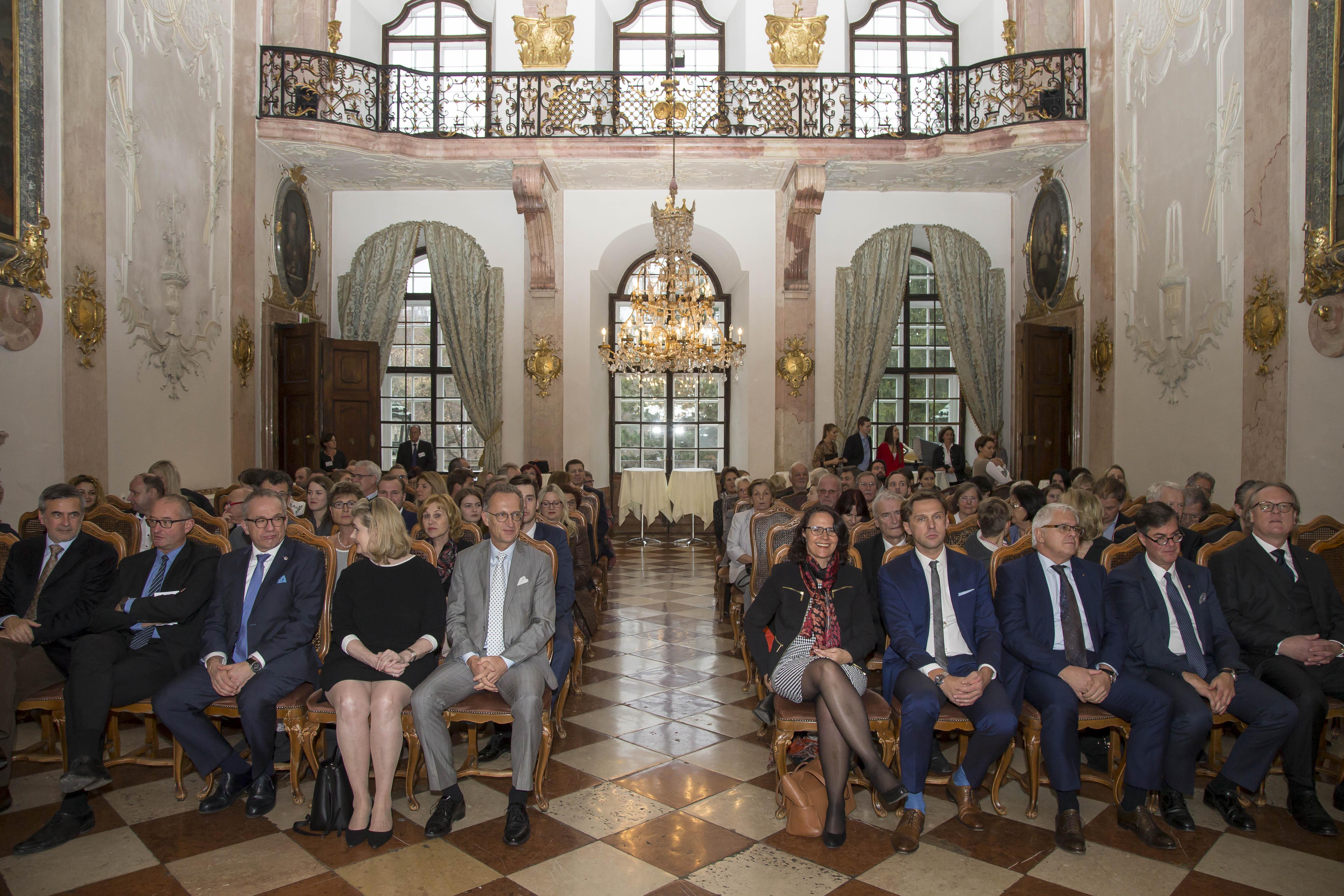 Graduierungsfeier ifm im Schloss Leopoldskron. Foto: Andreas Kolarik, 25.11.16