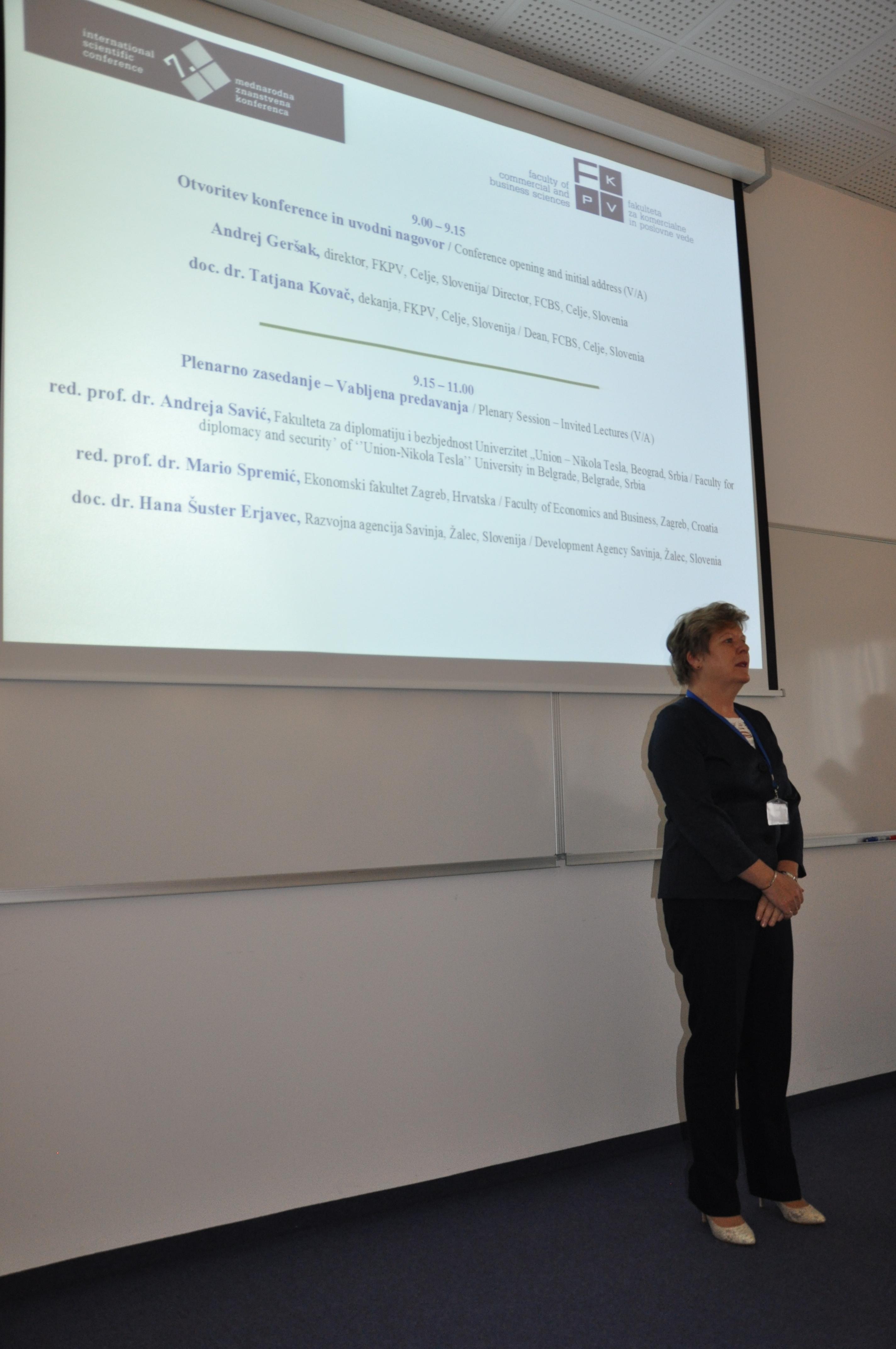 doc. dr. Tatjana Kovač, predsednica programskega odbora konference