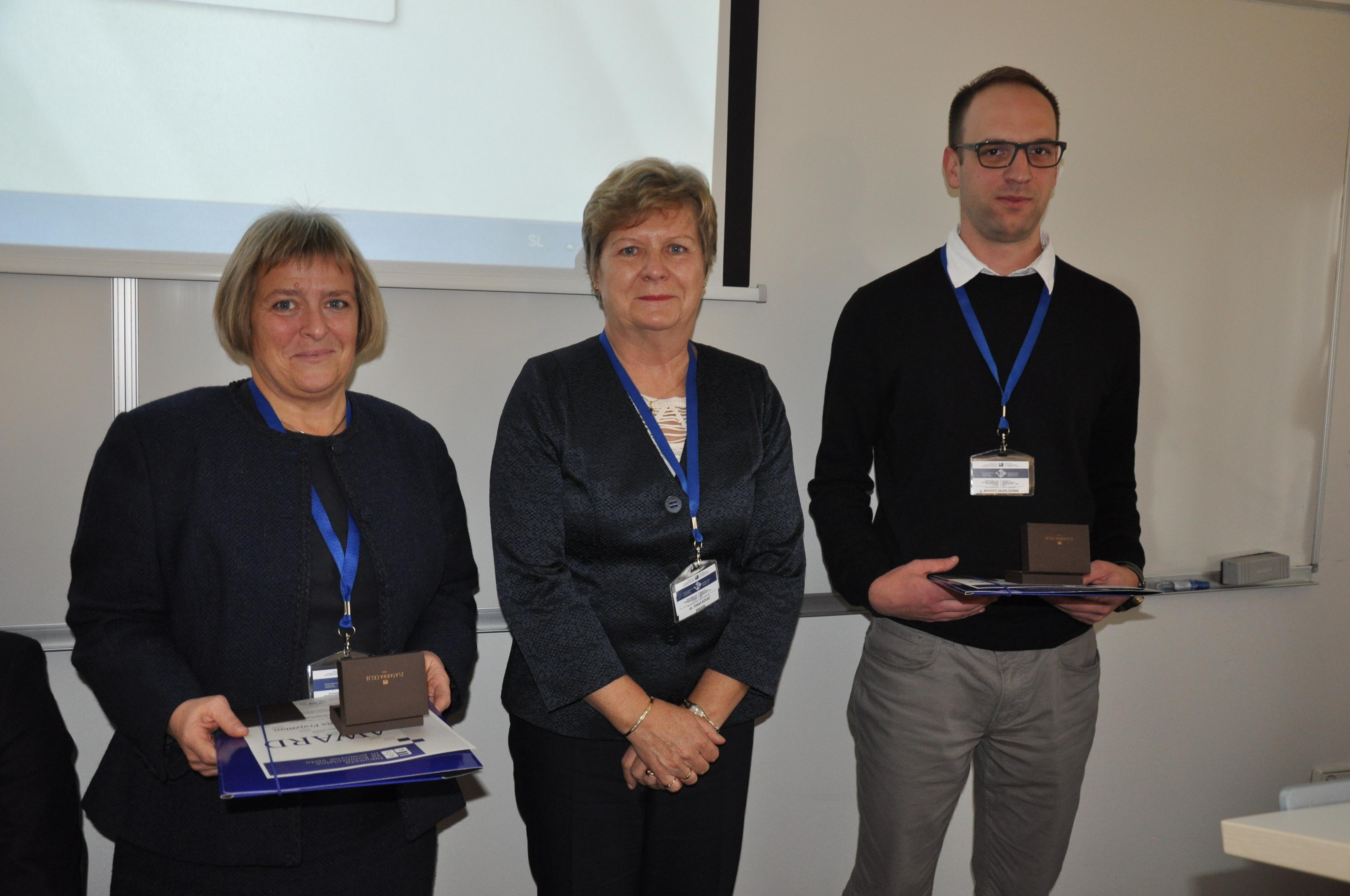 Nagrado za najboljši študentski članek je prejel Marko Skarlovnik, mag. v soavtorstvu z doc. dr. Anito Goltnik Urnaut, naslov prispevka pa Medkulturna inteligentnost pri Slovencih in Hrvatih.