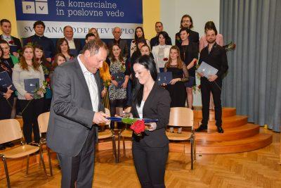 Najboljša dodiplomska študentka Veronika Novak